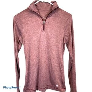 Mountain Hardwear womens qtr zip athletic top XS